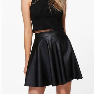 BooHoo Black Skater Skirt